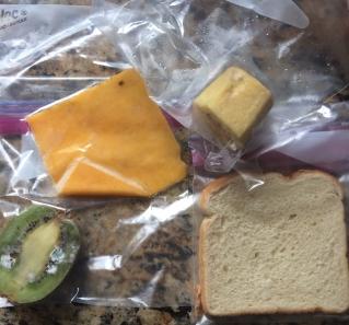 bread, kiwi, cheese, cucumber