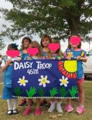 girls with their troop