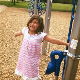 Lylah enjoying the park