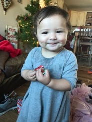Emma Faye, she ate every ones candy from their stockings